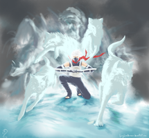 White Wolf Avalanche by LongLiveHumour