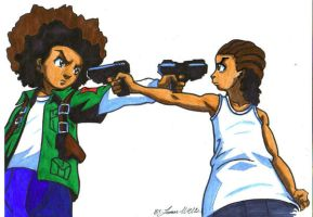 huey vs riley by trunks24