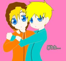 Kenny x Butters by sam-the-vampire