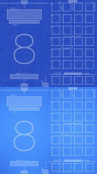 iPhone 6 iOS8 Blueprint Wallpaper by jessemunoz