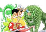 Usopp and Green plants by heivais