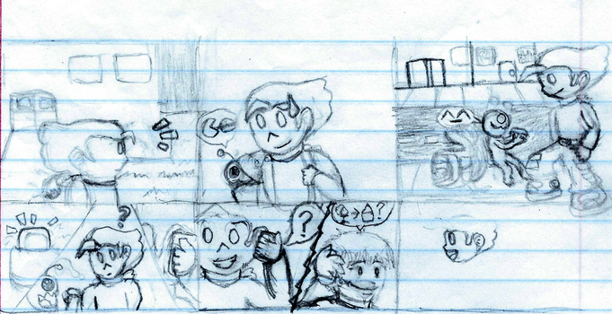 Some (Unfinished) NG Comic by UnluckyToonLink