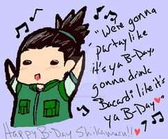 Nara Shikamaru's B-DAY 8D by Albel-is-MINE