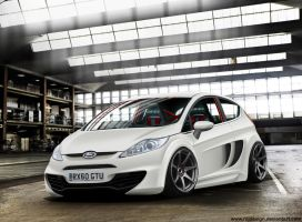 Ford Fiesta Snowflake Matte by RDJDesign