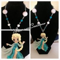 Handmade Necklace Elsa from Disney Frozen by DarkettinaMarienne