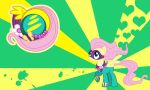 Fluttershy - Saddle Rager wall by Evilarticfox