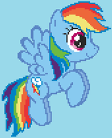 Commision: Large Rainbow Dash Sprite by Cyberguy64