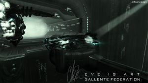 EVE is Art - Gallente Federation by SlothDesigns