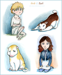 Amfi and Barfi as kids (their natural colors) by Domisea