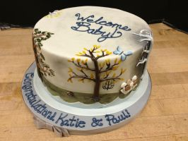 Enchanted Forest Baby Shower Cake- Autumn by Spudnuts