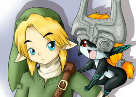 Link and Midna x3 by hikari2314