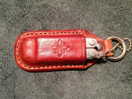 Leather case / keyring - Leatherman micra by siegeandspike