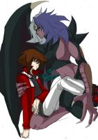 Yubel and Judai by SERENOA