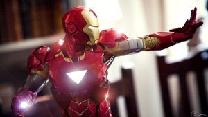 Iron Man vs. Lens Flare by saenjaina