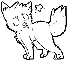 Chibi Wolf lineart by PineapplesDogs