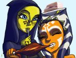 Ahsoka and Barriss Lunch time by Raikoh-illust