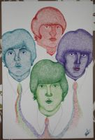 The Beatles in dots by EbbaOzolins