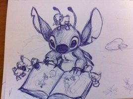 Stitch Sketch by nma-art