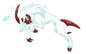 Omen the Absol by MoonIight-Eevee