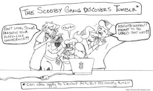 The Scooby Gang discovers Tumblr by brensey