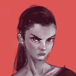 Angry Portrait by Moossey
