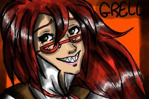 First Grell Fanart by Iycecold