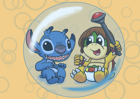 Baby Stitch and Baby Scott Koopa by PoisndartDragoon