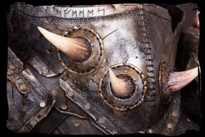 Orc leather armor close up 1 by Lagueuse
