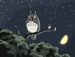 Totoro in the Night by faithless12