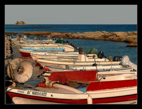 Boats Little Harbour... Somewhere On Rodos by skarzynscy