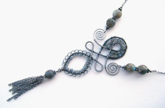 labradorite sterling necklace by annie-jewelry