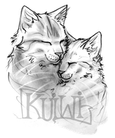 Dovewing and Tigerheart - Sketch by kuiwi