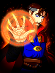 Dr Strange Digital ACEO Card by TaCDLunaria91
