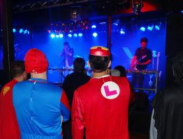 Superheros at Gig by JenniferCulverhouse