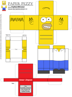 Paper Pezzy- Homer Simpson by CyberDrone