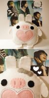 You're Beautiful Rabbit Pig by hellohappycrafts