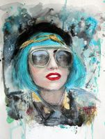 Teal Haired GAGA by DeniseEsposito