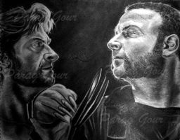 wolverine vs sabertooth by parag457