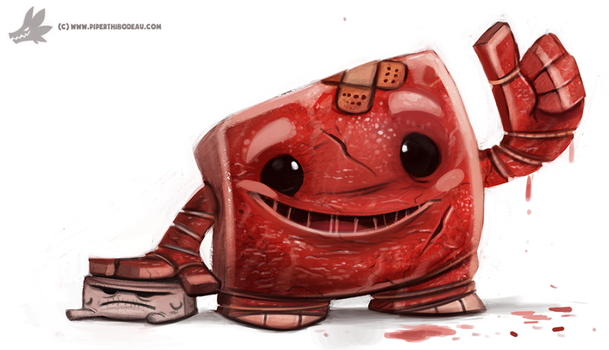 Day 804# Super Meat (and Tofu) Boy by Cryptid-Creations