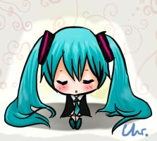 miku chibi sleep by Hyoryo