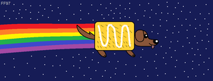 Nyan Cat's new rival by FluffyFerret97