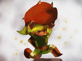 Link And His Pig Buddy by Gman20999