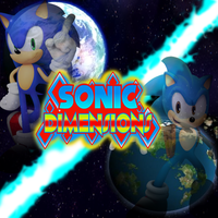 Sonic Dimensions Title Poster by FrostTheHobidon