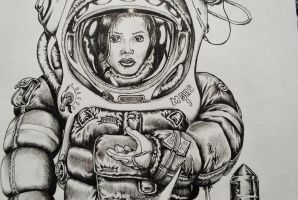 Spacesuit Woman (Ten Seconds Remaining) by scipi06