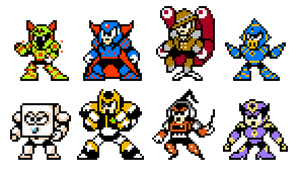 ROBOT MASTER SPRITES of MMSS by SomethingSyndicated