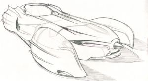 Batmobile Sketch IV by speeddemon575