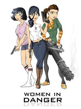 Women in Danger - Pin Up by Merlinsbeard