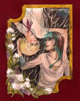 GIFT: Yume and Anoushka by villainesayre