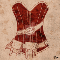 Steampunk vector corset by Drew993