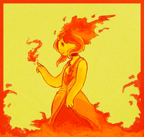 flame princess by 25dragonflies